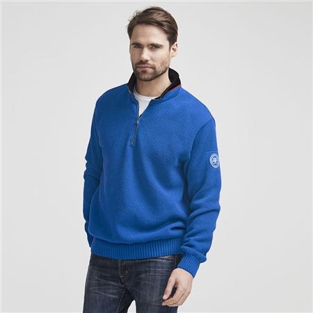 Holebrook 'Classic' 100% Cotton Windproof Jumper - Nautical Blue
