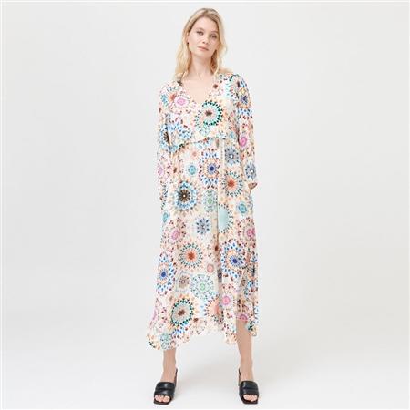 Dea Kudibal 'Fernanda' Kaleidoscope Print Viscose Blend Midi Dress - Kaleidoscope
