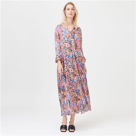 Dea Kudibal 'Rosanna' Floral Print Stretch Silk Midi Dress - Floral