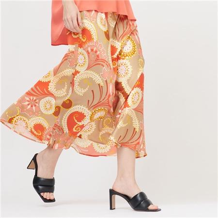 Dea Kudibal 'Erica' Abstract Print Stretch Silk Skirt - Khanga Taupe