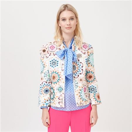 Dea Kudibal 'Rosy' Kaleidoscope Print Cotton Blend Jacket - Kaleidoscope