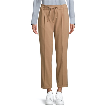 Betty Barclay Pull On Drawstring Trousers - Golden Camel  - Click to view a larger image