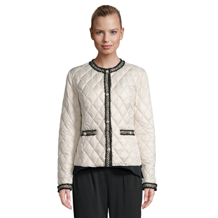 Betty Barclay Embellished Quilted Jacket - Bridal Ivory  - Click to view a larger image