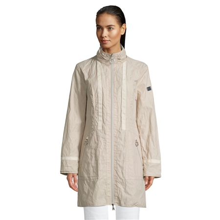 Betty Barclay Reversible Stand Up Collar Coat - Light Beige  - Click to view a larger image