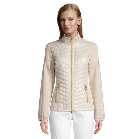 Betty Barclay Zip Detail Quilted Jacket - Pastel Sand 1