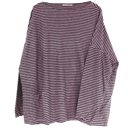 Cut.Loose Cotton/Linen Blend Oversized Striped Jumper - Clover 1