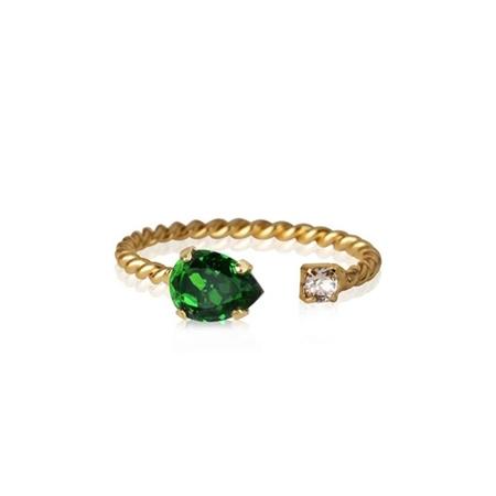 Caroline Svedbom 'Nani' Swarovski Crystal Ring - Fern Green