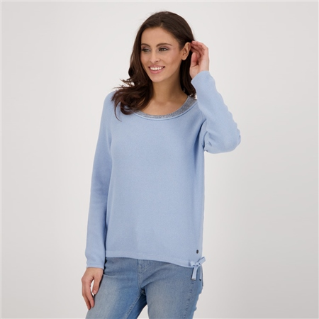Monari Embellished Wide Roundneck Jumper 1