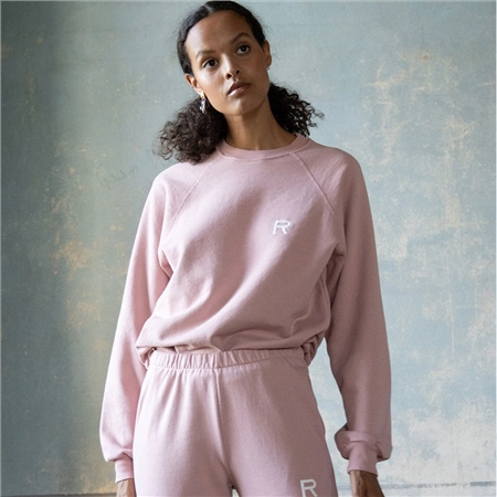 Ragdoll Cotton Blend Oversized Sweatshirt - Rose  - Click to view a larger image