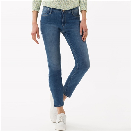 Brax 'Shakira S' 6/8th 5-Pocket Skinny Jeans - Used Regular Blue