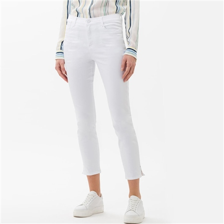 Brax 'Shakira S' 6/8th 5-Pocket Skinny Jeans - White  - Click to view a larger image