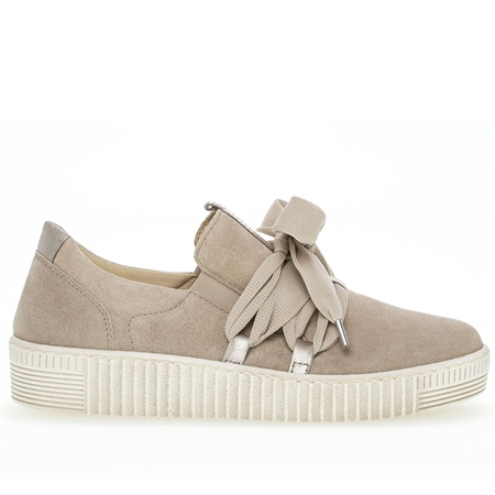 Gabor 'Best Fitting' Laces Detail Slip-On Suede Trainers - Shell 1