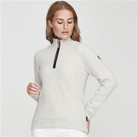 Holebrook 'Agnes' Wool Windproof Jumper - Light Grey Melange