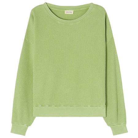 American Vintage 'Bowilove' 100% Cotton Waffle Knit Jumper - Granny Vintage  - Click to view a larger image