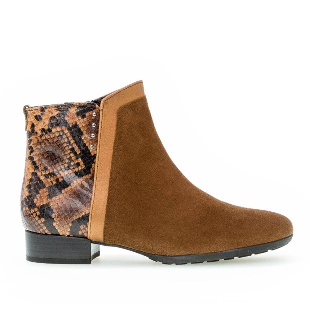 Gabor Snake Detail Ankle Boots 1