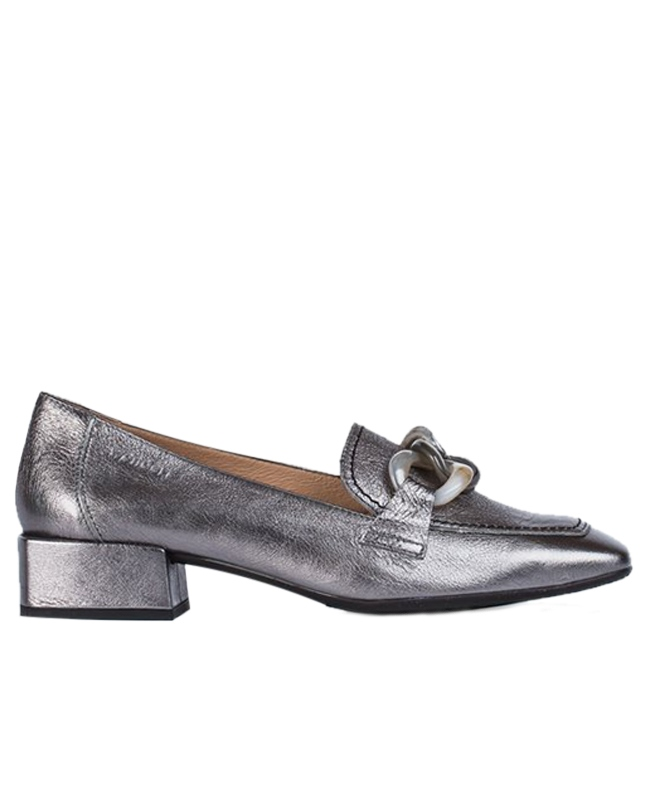 Wonders Chain Detail Metallic Loafers 1