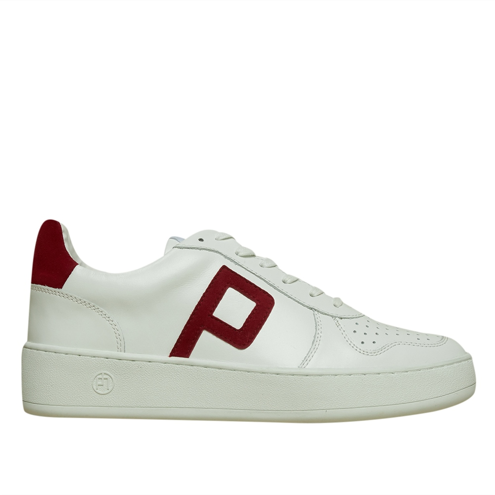 Philip Hog 'Emma' Leather Trainers - White Deep Red 1