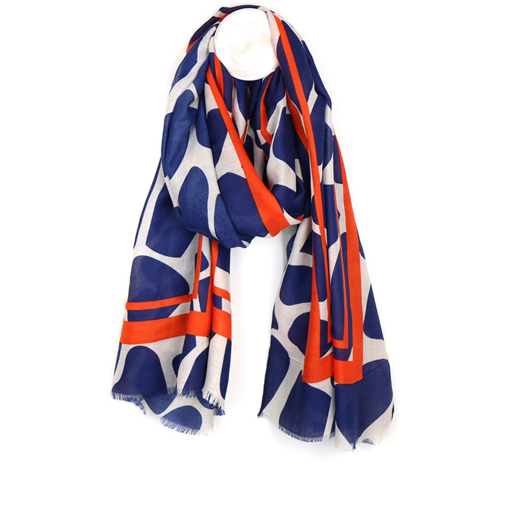 Peace Of Mind Bold Spot Contrast Border Scarf 1