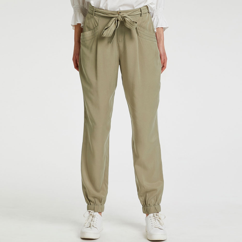 Cream 'Oda' Cargo-Style Trousers With Tie-Belt - Mermaid 1