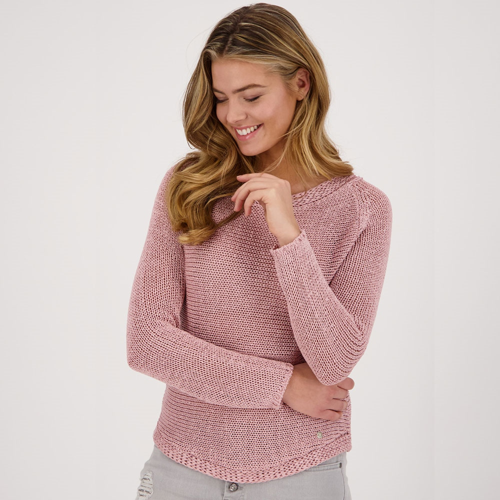 Monari Ribbon Knit Jumper - Rose 1